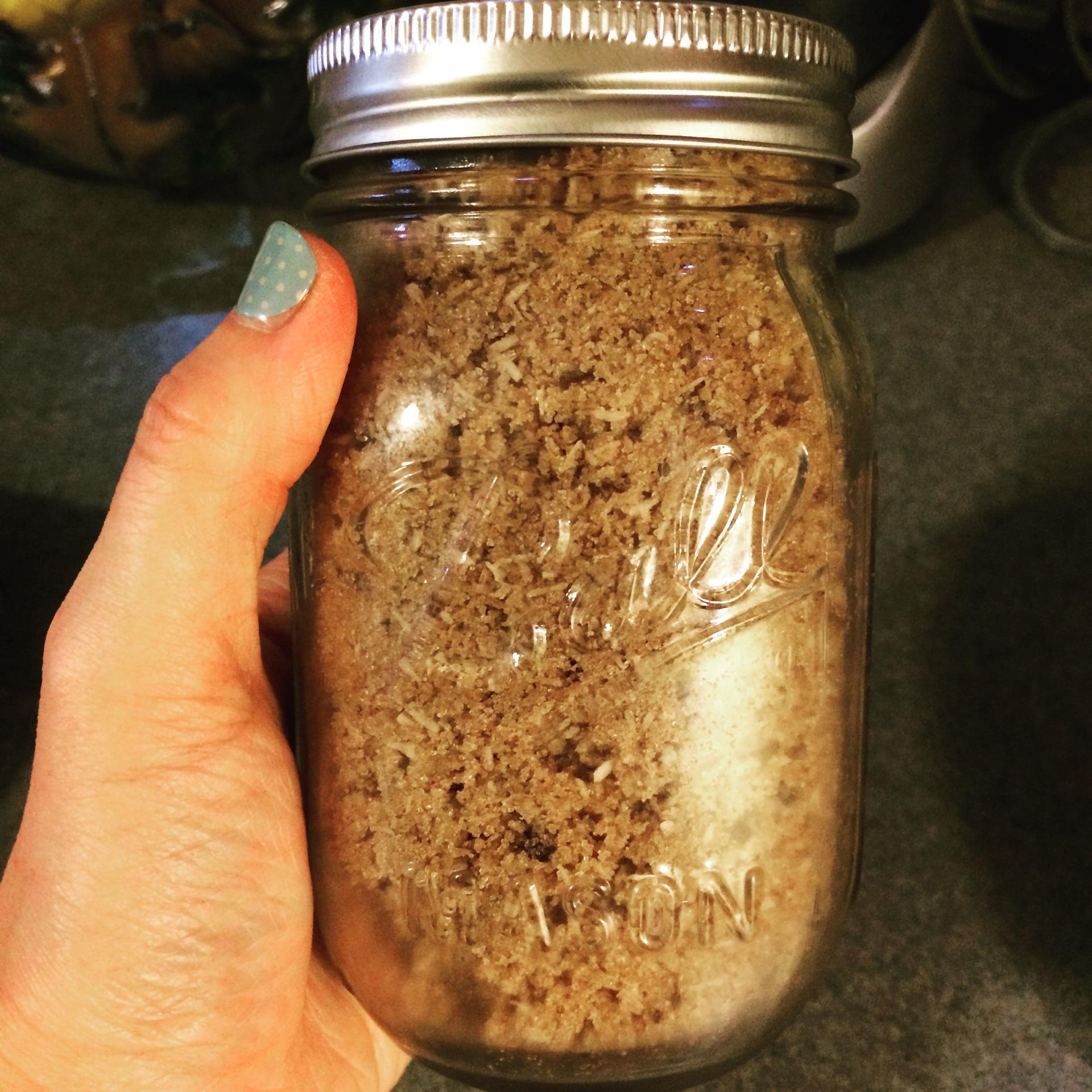 New Body Scrub Recipe!  Coconut-Chocolate Body Scrub