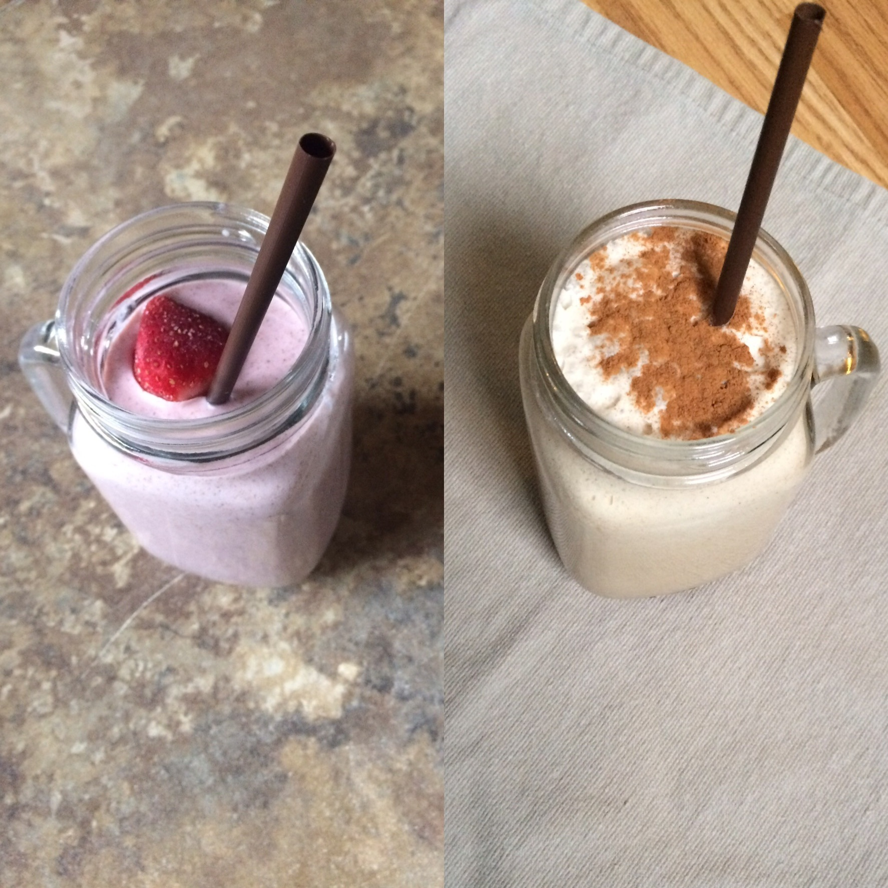 Two New Dairy-Free Shake Recipes!  Strawberries and Cream and Coffee!
