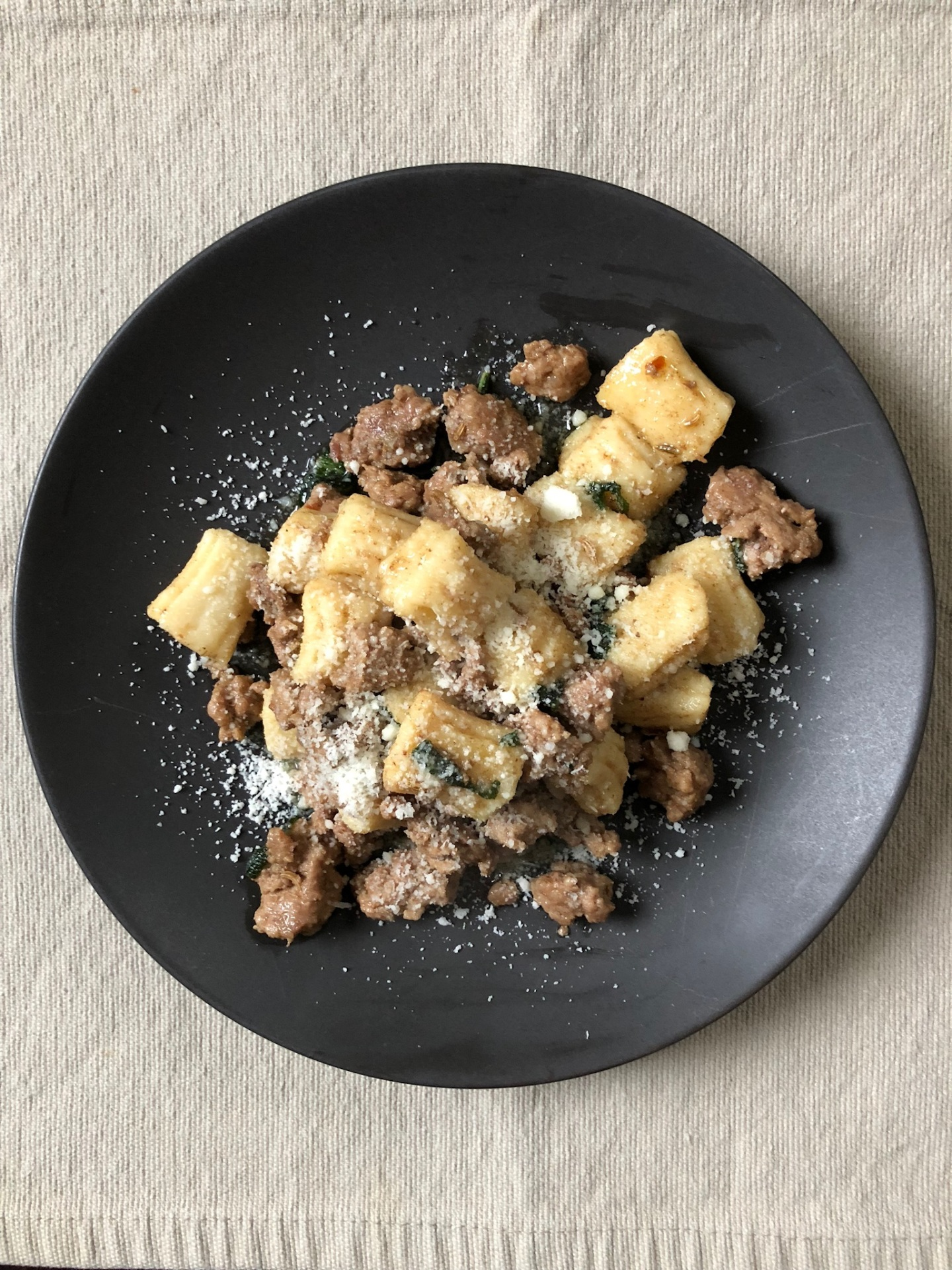 Grain-Free Gnocchi with Sausage and Brown Butter-Sage Sauce