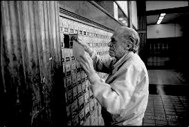 BUKOWSKI AT SAN PEDRO POST OFFICE 1992