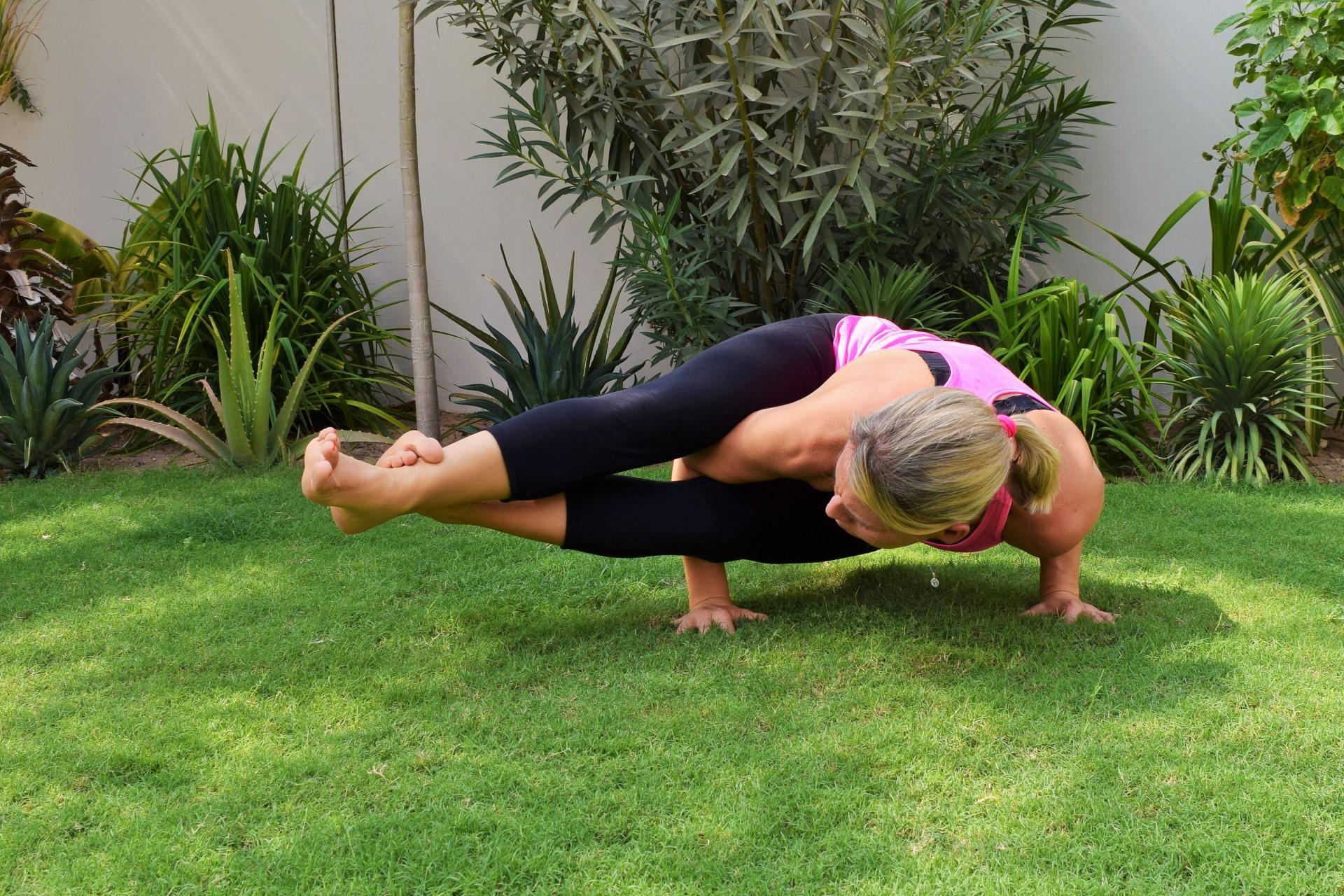 Eight Limb Yoga pose by Sam Saunders