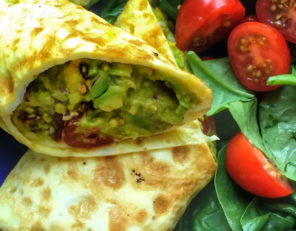 Anti-ageing avocado egg roll by Sam Saunders
