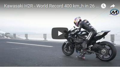 Kawasaki H2R - World Record 400 km_h in 26 sec. HD - Maazzz Creations
