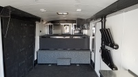 Brand new 2015 Mirage 8.5'x34' Snowmobile Trailer with Highmark package Grey with Black Graphics at Terrys Truck and RV in Mountain Home Idaho