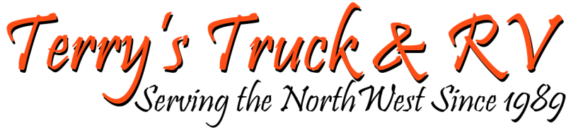 Terrys Truck and RV Logo in Orange and Black
