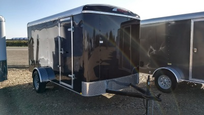 2017 Charcoal Metallic Mirage XPO Enclosed Trailer 6'x12' Single Axel Available at Terrys Truck and RV In Mountain Home Idaho