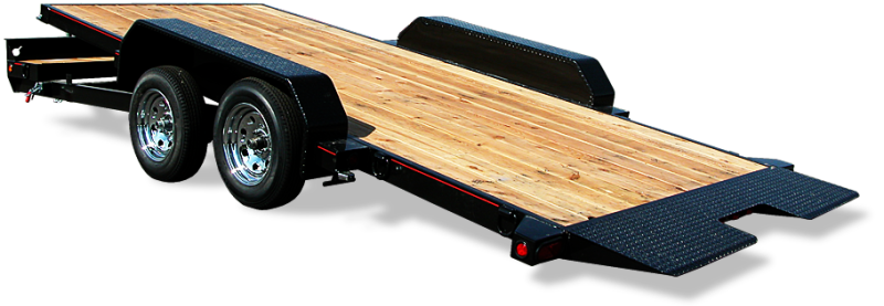 "Mirage Tilt Bed Car hauler with douglas fir deck and 18"" beaver tail at Terrys Truck and RV in Mountain Home, ID"
