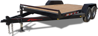 """Mirage Flat HD Bed Car hauler with douglas fir deck and 18"""" beaver tail at Terrys Truck and RV in Mountain Home, ID"""