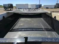 2017 Mirage Dump Trailer 6'x12' Black with retractable tarp and full size spare at Terrys Truck and RV in Mountain Home Idaho.