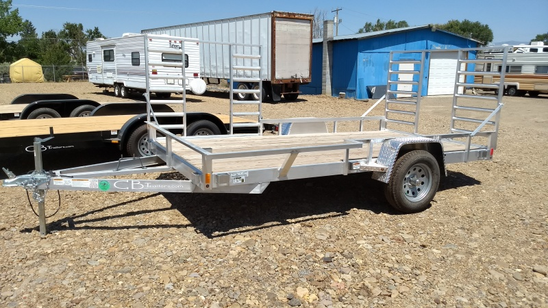 2017 C&B Aluminum Trailer with rear and side ramps and wooden deck.  Available at Terrys Truck and RV in mountain Home Idaho.