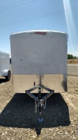 2017 Polar White Mirage Xcel Enclosed Trailer 6'x10' Single Axel Available at Terrys Truck and RV In Mountain Home Idaho