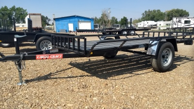 2017 Cargo Craft Side Load 5x10 ATV Trailer Black with single axel available at Terrys Truck and RV in Mountain Home Idaho