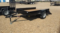 2017 Mirage 5x8 Single Axel Utility Trailer in Black with Rear Ramp available at Terrys Truck and RV in Mountain Home Idaho