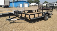 2017 C&B Single Axel Utility Trailer in Black with Rear Ramp available at Terrys Truck and RV in Mountain Home Idaho