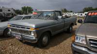 Primer Grey 1977 Ford F-150 in a field