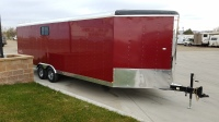 Brandywine Maroon colored Mirage Xtreme Sport Enclosed Trailer 8.5'x28' in Mountain Home, Idaho