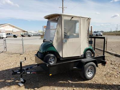 Yamaha Electric Golf Cart w/Enclosure and Mirage Trailer - $399