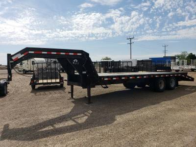2017 C&B Rail Trailer with rear ramp and wooden deck.  Available at Terrys Truck and RV in mountain Home Idaho.