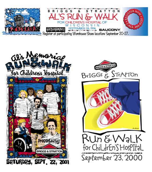 Al's Run Event logos