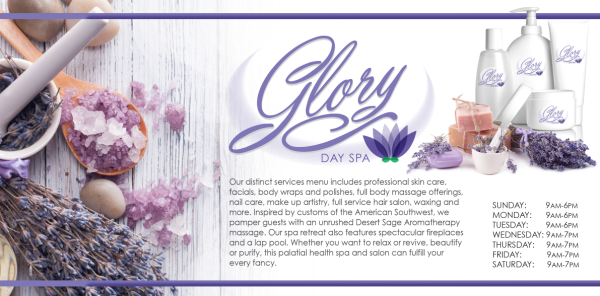 Magazine Layout for Day Spa