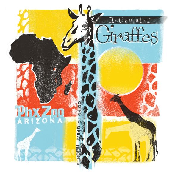 Phonix Zoo Giraffe Exibit