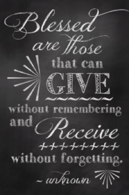 better to give than to receive