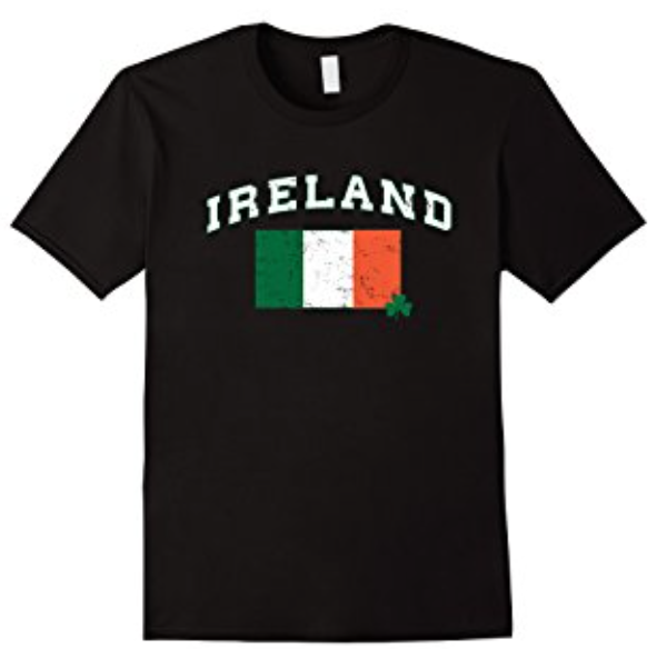 ireland flag distressed with clover