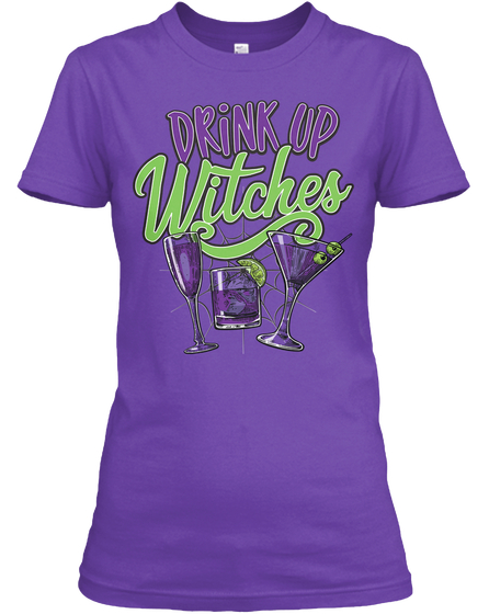 funny halloween t-shirt , drink up witch