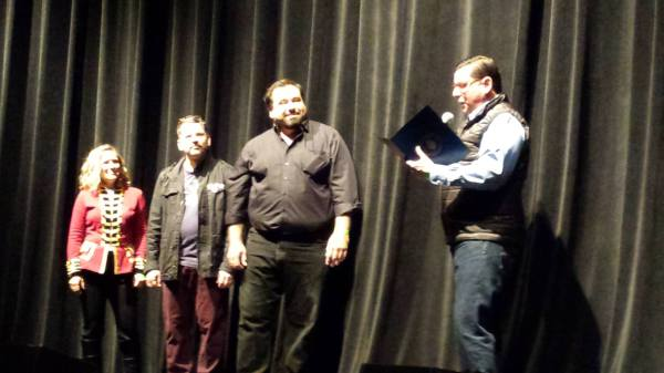 Deej, Scott & Paul with the Mayor