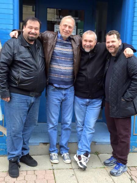Outside the original XX studios!  Paul, Bob, Phil & Scott