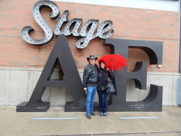 DJ Bird and wife Janine outside of Stage AE at soundcheck
