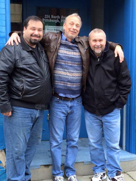 Paul, Bob & Phil outside of the XX studios in MIllvale