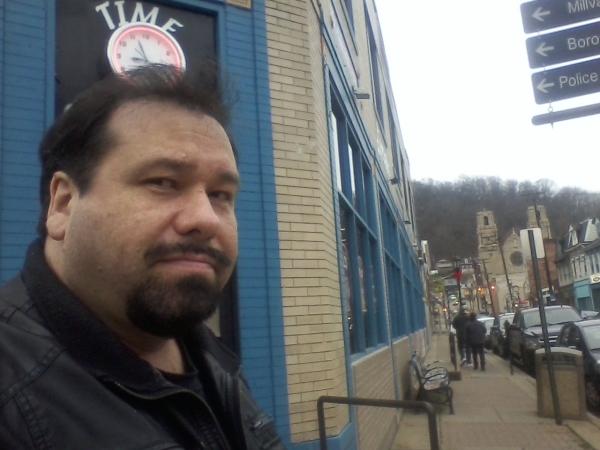Paul outside of XX studios in Millvale