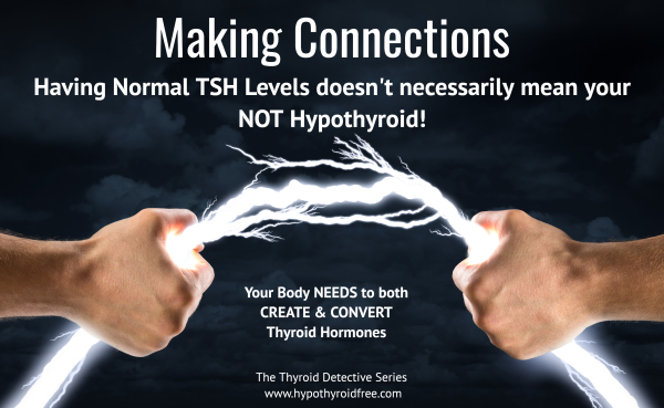 Making Connections - why my normal TSH levels didn't mean I wasn't hypothyroid!