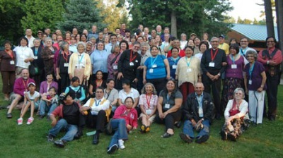 Sacred Circle 2009 Port Elgin, Ontario. Pastor Murray in the centre of the picture.