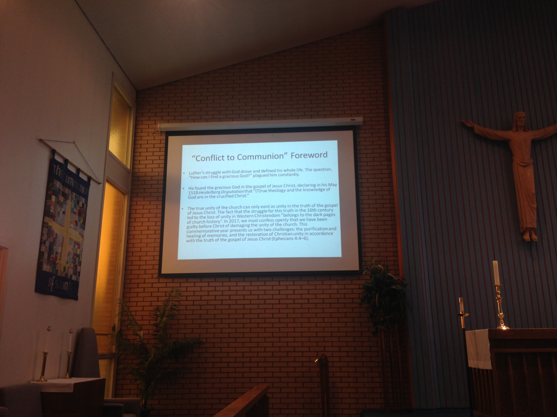 2017-03-20 Lenten Talks Week 3 - Dave Chell