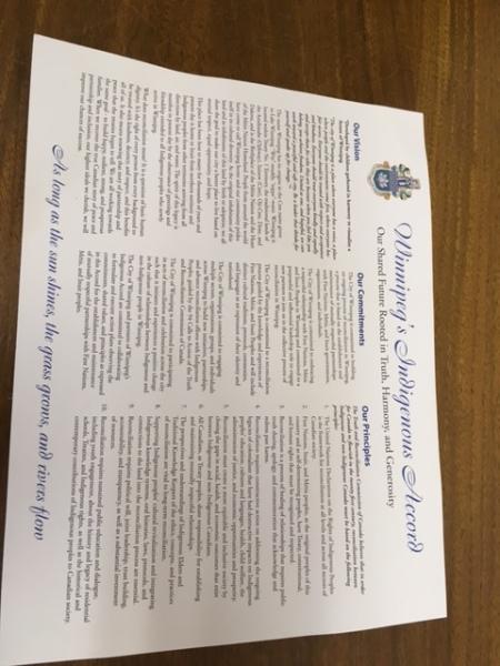 Winnipeg Indigenous Accord Signing - June 20, 2017