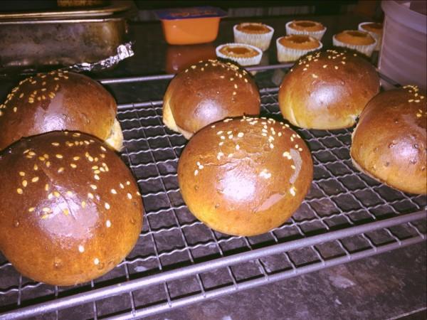North African sesame brioche style bread