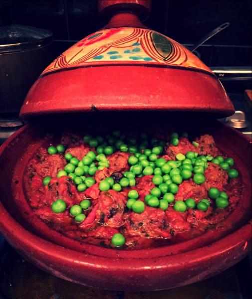 Moroccan spiced tagine, lamb meatballs (koftas)