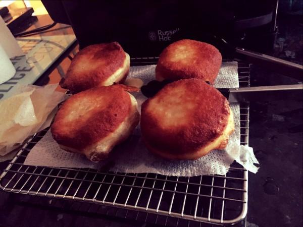 Brioche style doughnuts, creme legere