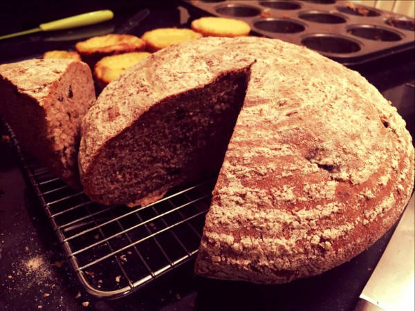 Olive, Chive and Gruyere Wholemeal Bread