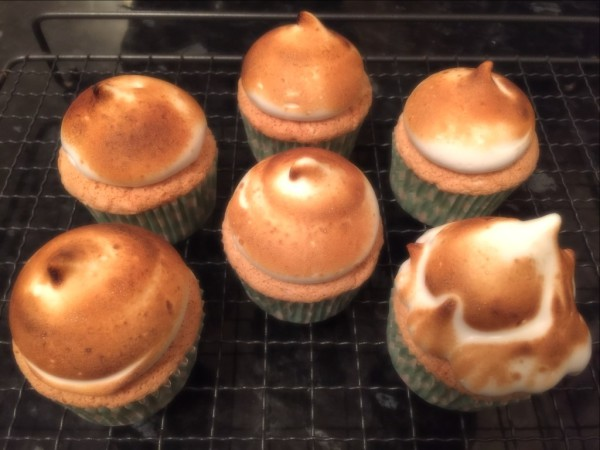 Angel Food Cupcakes and Marshmallow Frosting