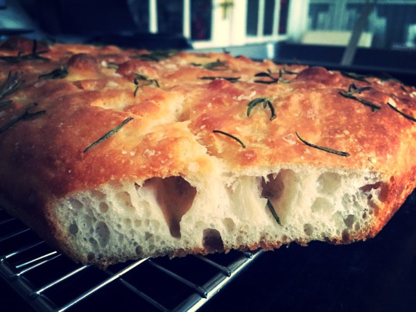Olive oil, rosemary and sea salt focaccia