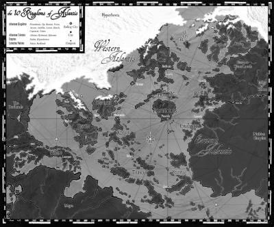 Map of the Ten Kingdoms of Atlantis