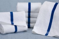 Martex Blue Center Stripe Pool Towels