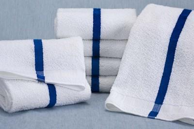 Martex Blue Center Stripe Pool Towels