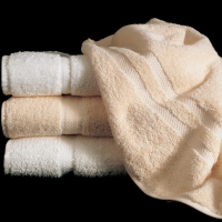 Martex Sovereign White and Ecru Towel Stack