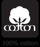100 percent cotton icon