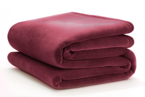 vellux cranberry blanket