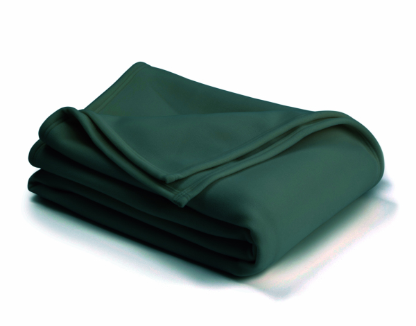 vellux classic hunter green blanket